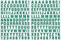 (シャシャン)XIAXIN 防水 PVC製 アルファベット ステッカー セット 耐候 耐水 数字 キャラクター ミニサイズ 表札 スーツケース ネームプレート ロッカー 屋内外 兼用 TSS-105 (2点, グリーン)