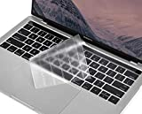 for MacBook Pro Touch Bar Keyboard Cover, CaseBuy Ultra Thin Clear Keyboard Skin for 2019 - 2016 Release MacBook Pro with TouchBar 13 Inch A2159 A1706 A1989 or 15 Inch A1707 A1990 Protective Skin