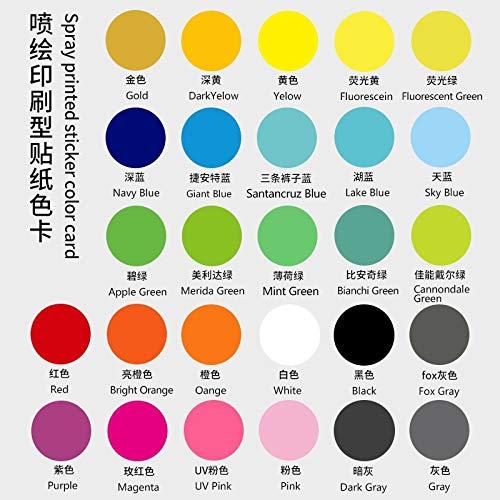 Etiquetas engomadas de la rueda de montaña pegatinas de la bicicleta calcomanía de la bicicleta MTB Accesorio Pegatinas (Color : 27.5er custom color)