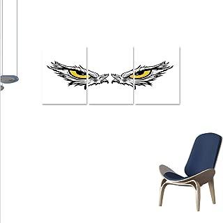 Eye Wall Paintings Aggressive Gaze of a Bird of Prey Cartoon Mascot Hunter Falcon Eagle Hawk Print On Canvas for Wall Decor 16