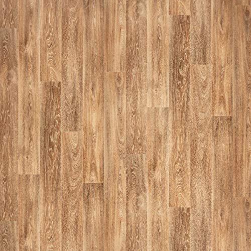 JOKA PVC Vinyl-Bodenbelag in Eiche Kontrast Braun | CV JOKA PVC-Belag verfügbar in der Breite 400 cm & Länge 500 cm | CV-Boden wird in benötigter Größe als Meterware geliefert | rutschhemmend