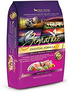 Zignature Zssential Formula Dry Dog Food 13.5 lb. bag, made with Turkey, Lamb, Duck & Salmon, Fast Delivery