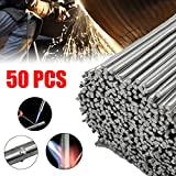 Aluminium <span class='highlight'>Welding</span> <span class='highlight'>Rods</span>, 50cm Low Temperature Flux Cored Soldering Rod, 1.6/2/2.4mm for Electrical <span class='highlight'>Welding</span> Soldering DIY Repair Working, No Need Solder Powder - 50 Pcs (2 mm)
