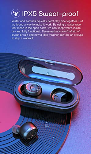 Wireless Earbuds Bluetooth Headphones 5.0 with Charging Case Sweat-Proof Sports Wireless Earphones 6