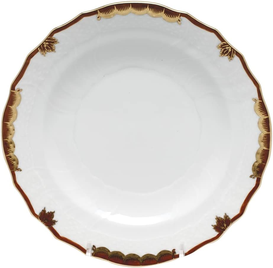 Japan Maker New Herend Princess Victoria Brown Porcelain Butter Plate and Bread Charlotte Mall