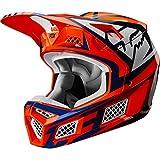 Fox Racing 2020 V3 Helmet - Idol (X-Large) (Orange/Blue)