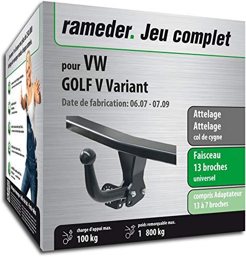 Rameder Attelage démontable avec Outil pour VW Golf V Variant + Faisceau 13 Broches (164316-06245-1-FR)