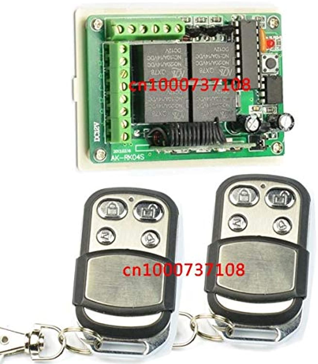 DC12V 4CH RF Light Switch with learing Code 315mhz 433mhz Wireless Radio Remote Controller Switch for lamp Lights