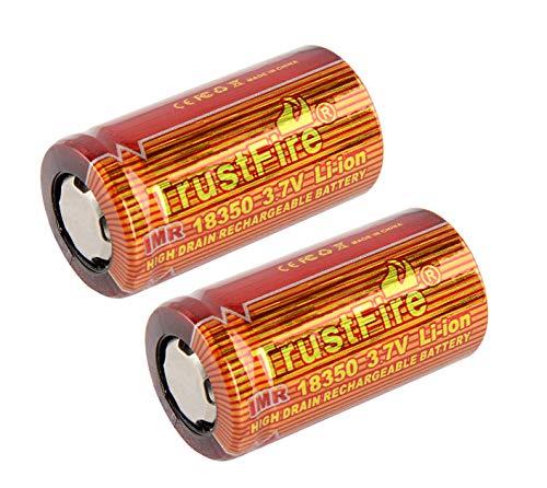 TrustFire IMR 18350 Li-Ion Akku 3,7V | Flat Top | 900mAh | 10A High Drain (2 x Akku)