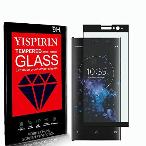 YISPIRIN [2 Stück] 3D Panzerglas Schutzfolie für Sony Xperia XA2 Plus, 9H Härte Anti-Kratzer Schutzglas, Bläschenfrei Transparent,HD vollständige Abdeckung Displayschutzfolie für Sony Xperia XA2 Plus