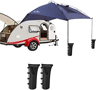 51d799c0523 Car Tail Cuenta Carpa Plegable Refugio Portátil Anti-UV Toldo Car Tienda  Impermeable con 2