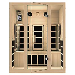 JNH Lifestyles MG301HCB MG317HB Far Infrared Sauna, 59 x 39.5 x 75 inches,...