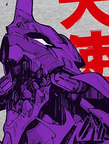 style3 Neo-Tokyo 3 Rage Camiseta para Hombre T-Shirt Evangelion Anime japonés, Talla:XL, Color:Gris Brezo