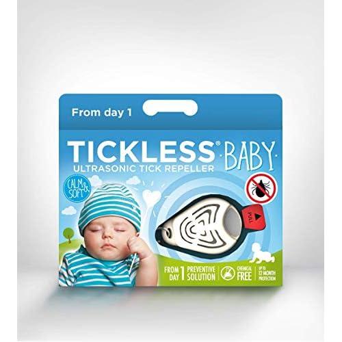Tickless Baby repellente ad ultrasuoni contro le zecche per neonati e bambini - Beige