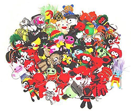 Wholesale Bulk Lot 50 Pcs Voodoo Dolls Keychain Keyring Ornament