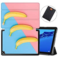 MAITTAO Slim Folio Case For Huawei MediaPad M5 Lite 10 2018 Release, Magentic Smart-Shell Stand Cover with Wake/Sleep for Mediapad M5 lite 10.1 Inch Tablet Sleeve Bag 2 in 1, Cute Fresh Creative 17