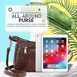 Katloo Shoulder Purse Women PU Leather Crossbody Bag Handbag for Cell Phones Wallet Cosmetics (Coffee)