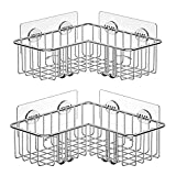 SMARTAKE 2-Pack Corner Shower Caddy, Adhesive Bath Shelf with Hooks, SUS304...