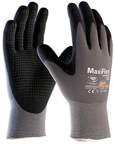 3er Pack MaxiFlex Endurance Arbeitshandschuh mit Noppen, Montagehandschuhe, Größe:9 (L)