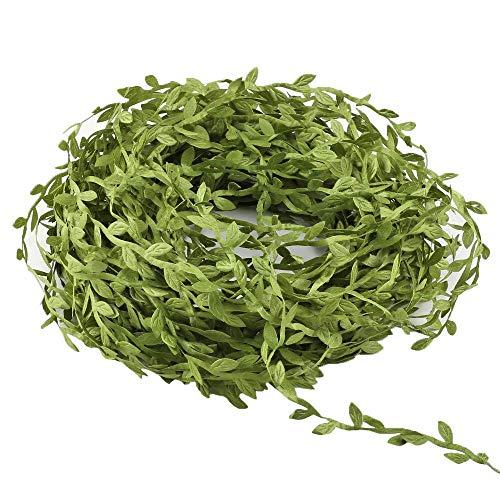 XYXCMOR Kunstmatige Vines132 Ft groen slingers opknoping Eucalyptus slinger nep zijde bladeren voor bruiloft krans accessoire muur ambachten partij Decor licht groen