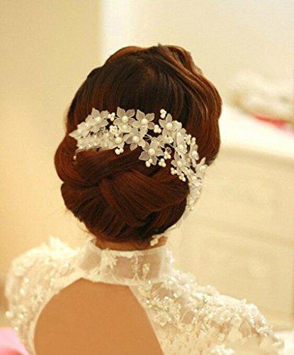 Losuya® handgefertigt Perle Braut Kopfschmuck Hochzeit Zubehör Haarspange Haar Hoop Dance Zubehör