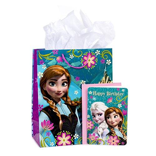 Hallmark große Geschenktüte mit Geburtstagskarte und Seidenpapier (Disney-Prinzessinnen) Frozen 13 in Große Eiskönigin