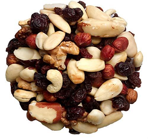 """Fru'Cha! - """"Premium""""-BIO Studentenfutter mit Cranberries aus kbA - 1000g - Plastikfrei verpackt -100% kompostierbar"""