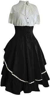 Forthery-Women Renaissance Dress Renaissance Medieval Irish Costume Over Dress and Pure White Chemise Set