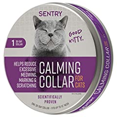 Scientifically proven: Sentry calming collar for Cats reduces excessive meowing, marking and scratching. Less stressful lives: the Sentry calming cat collar reduces excessive meowing in cats and kittens. Eliminate unwanted behavior: Sentry cat calmin...