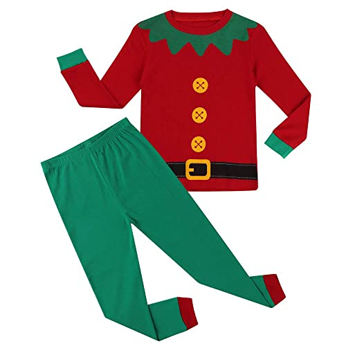 Hsctek Christmas Pajamas Set, Children Long Sleepwear Pjs, Kids Warm Cotton Clothes