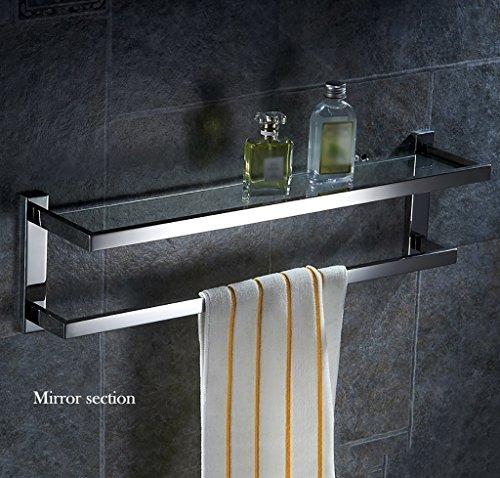 Bathroom Rack YSJ Salle de Bains Verre rectangulaire étagère Murale Verre trempé Extra épais, Section Lumineuse (Taille : 50 * 13 * 16.5cm)