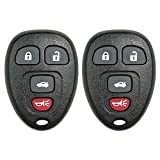 Keyless2Go Replacement for New Keyless Entry Remote Car Key Fob for Select Malibu Cobalt Lacrosse Grand Prix G5 G6 Models That use 15252034 KOBGT04A Remote (2 Pack)