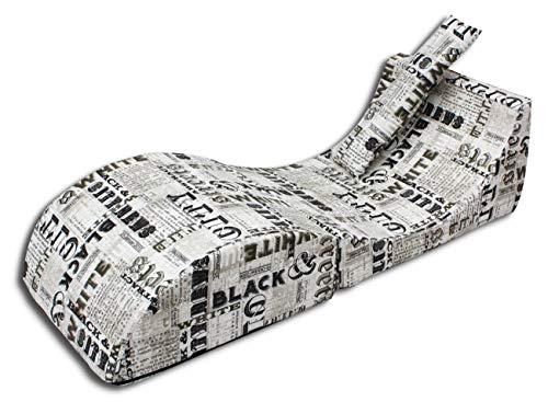 Velinda Relaxliege Relaxsessel Loungeliege Fernsehsessel Liegestuhl Liegesessel (Farbe: Zeitung)