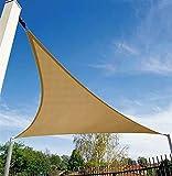 12' x 12' x 12' Sun Shade Sail Triangle for Patio Yard Deck Pergola Outdoor Sun Sail Shade UV Block Sunshade Sand Color