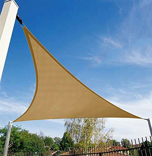 Shade&Beyond Triangle Sun Shade Sail for Patio Lawn Deck Garden Pergola …