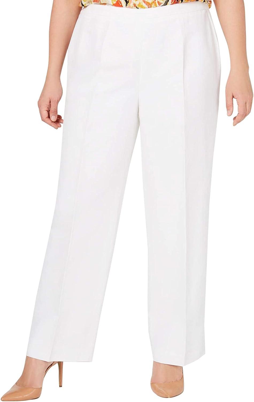 Kasper Women's Plus Size Linen Pant