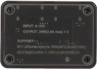 Weikeya Módulo de configuración, hecho de plástico, grabadora de conducción, panel solar, módulo de configuración USB doble