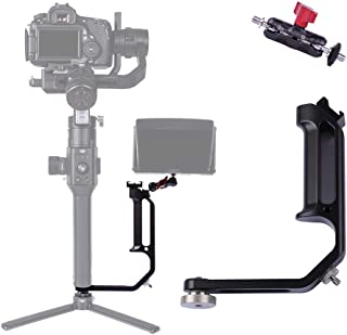 DF DIGITALFOTO Universal L Bracket Handle Gimbal Accessories,Mounting Monitor/Microphone..