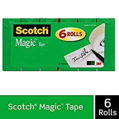 The original matte-finish, invisible tape Frosty on the roll, but invisible on the job Preferred by millions Comes off the roll smoothly, cuts easily Scotch Magic Tape Refills are compatible with all of the Scotch Brand desktop dispensers for easy us...