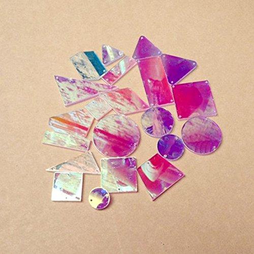 Coser en cristal acrílico AB / cristal plano con agujeros para vestido...