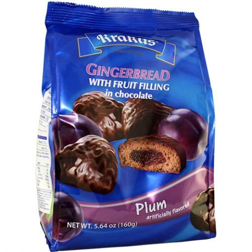 Krakus Gingerbread Fruit Filling Covered in Chocolate - 5.64 oz (Pack of 2) (Plum)