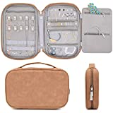 storageLAB Travel Jewelry Organizer, Faux Suede Clutch Bag for Necklaces, Earrings, Rings ...