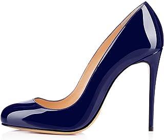 Soireelady Scarpe con Tacco Donna,Round Toe High Heels,Tacco a Spillo 10cm