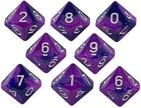 Paladin Roleplaying Purple and Indigo Dice - 8 D10 Set - 'Purple Worm'