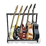 Gitarrenständer Notenständer Metall Akustikgitarrenständer Multi Guitar Display Rack Akustikgitarren Organizer Halter Tragbarer E-Gitarre...