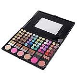 78 Colores Sombra de Ojos Profesional Paleta de Sombras de Ojos Mate Perlada Color Tierra Set de Caja de Maquillaje de Una Sola Capa Maquillaje Natural Brillante