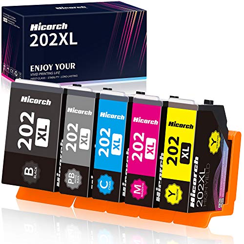 Hicorch 202XL Multipack Cartuchos de tinta de repuesto para Epson 202 XL compatibles con Epson Expression Premium XP-6105 XP-6100 XP-6005 XP-6000 XP6105 XP6100 XP6005 XP6000 (5-Paquete)