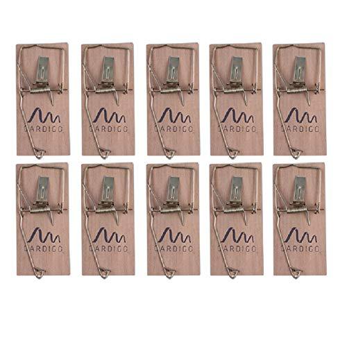 Preisvergleich Produktbild Gardigo Mausefalle 10er Set für innen sowie außen ohne Gift und umweltfreundlich