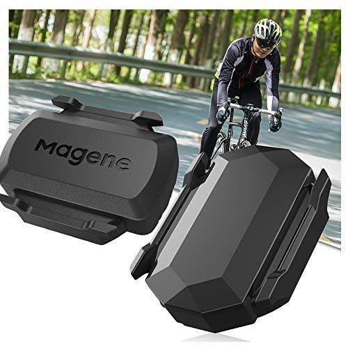 LCJDD Capteur de Vitesse et de Cadence de vélo 2-en-1 Ant +, capteur de Cadence Bluetooth pour vélo de Spin, Support Igpsport/Bryton/Garmin (2Pcs)