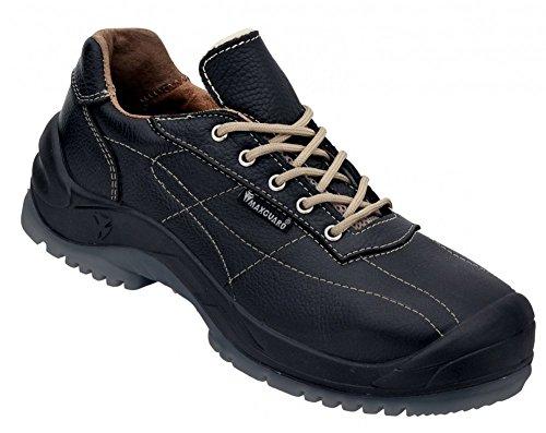 MAXGUARD Sicherheitsschuhe E 340 - S3 Arbeitsschuhe aus echtem Elchleder, Schuhgröße:41